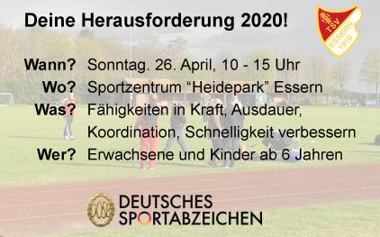 Sportabzeichenauftakt 2020©TSV Essern